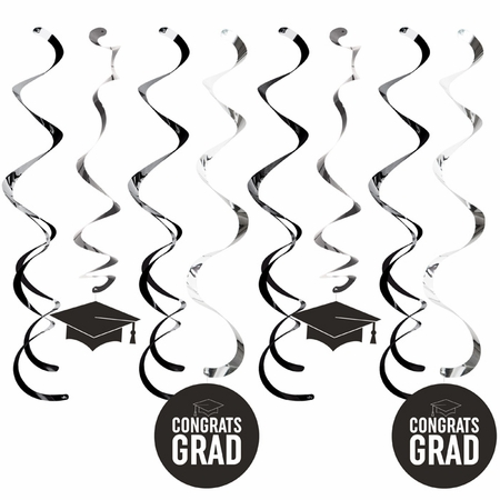Black Graduation Dizzy Danglers 96 ct