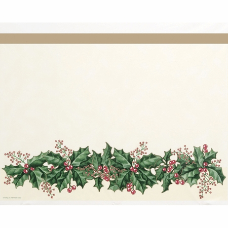 Winter Holly Table Covers 12 ct