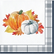 Thanksgiving Elegance Beverage Napkins 192 ct