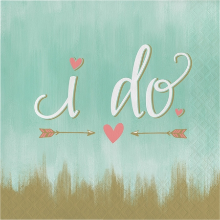 Mint To Be  I Do Luncheon Napkins 192 ct