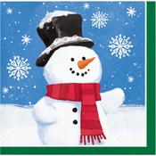 Smiling Snowmen Beverage Napkins 192 ct