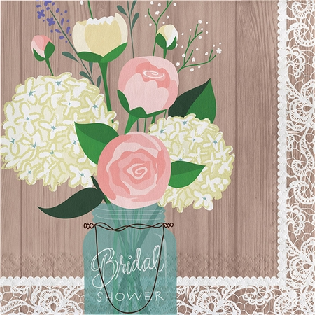 Rustic Wedding Bridal Shower Luncheon Napkins 192 ct