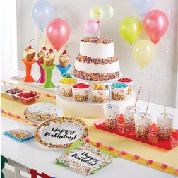 Confetti Sprinkles Birthday Party Supplies