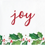 Seasons Greetings Beverage Napkins 192 ct