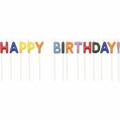 Happy Birthday Pick Candles 12 ct