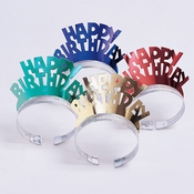 Foil Birthday Tiaras 48 ct