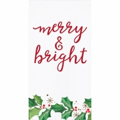 Seasons Greetings Guest Towels 192 ct
