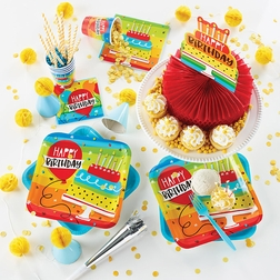 Rainbow Cake Party Supplies