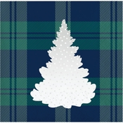 Holiday Tartan Beverage Napkins 192 ct