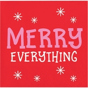 Holiday Whimsy Merry Everything Beverage Napkins 192 ct