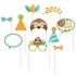Sloth Party Photo Booth Props 60 ct