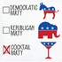 Political Party Beverage Napkins 192 ct