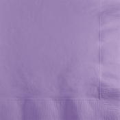 Touch of Color Luscious Lavender 2 ply Beverage Napkins in quantities of 50 / pkg, 12 pkg / case