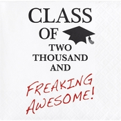 "Graduation Tassel Talk ""Awesome"" Beverage Napkins"