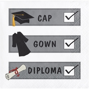 "Graduation Tassel Talk ""Check List"" Beverage Napkins"
