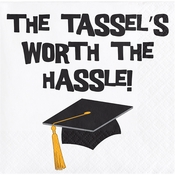 "Graduation Tassel Talk ""Tassel Hassle"" Beverage Napkins"