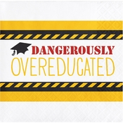 "Graduation Tassel Talk ""Overeducated"" Beverage Napkins"