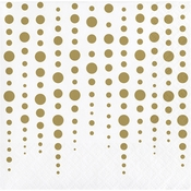 Gold 50th Anniversary Beverage Napkins 192 ct