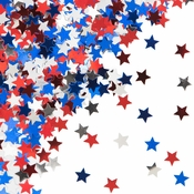 Wholesale Red, White & Blue Star Confetti for July 4th