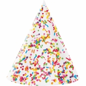 Confetti Sprinkles Party Hats 48 ct