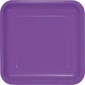 Amethyst Purple Square Dinner Plates 180 ct
