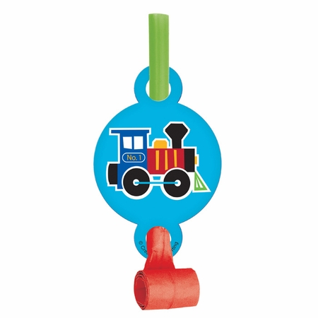 All Aboard Train Party Blowers 48 ct