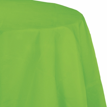 Touch of Color Fresh Lime Octy-Round Paper Tablecloths 12 ct in quantities of 1 / pkg, 12 pkgs / case