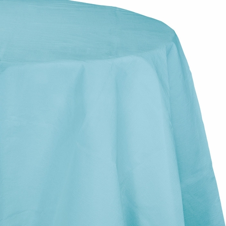 Touch of Color Pastel Blue Octy-Round Paper Tablecloths in quantities of 1 / pkg, 12 pkgs / case