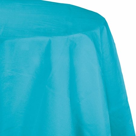 Touch of Color Bermuda Blue Octy-Round Paper Tablecloths 12 ct in quantities of 1 / pkg, 12 pkgs / case