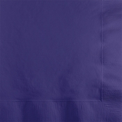 Touch of Color Purple 2-ply Beverage Napkins in quantities of 50 / pkg, 12 pkgs / case
