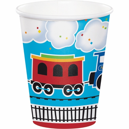 All Aboard Train Cups 96 ct