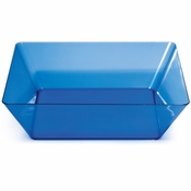 For modern appeal at budget friendly price points choose the Translucent Blue TrendWare Large Square Bowl sold in quantities of 1 / pkg, 6 pkgs / case