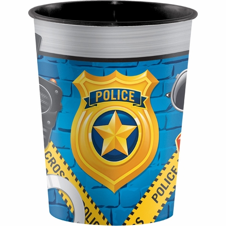Police Party Plastic Keepsake Cups 12 ct