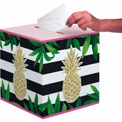Golden Pineapple Card Boxes 6 ct