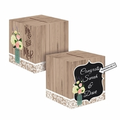 Rustic Wedding Card Boxes 6 ct