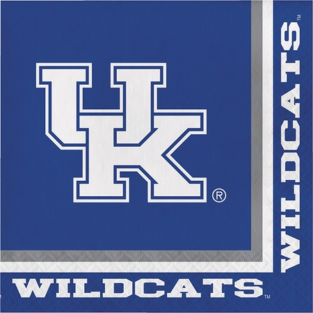 Blue and white University of Kentucky Luncheon Napkin sold in quantities of 20 / pkg, 12 pkg / case