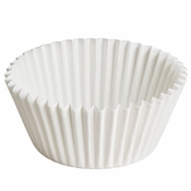 """3.5"""" White Fluted Baking Cups Zip Pack 10,000 ct"""