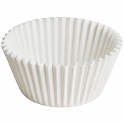 """4.5"""" White Fluted Baking Cups Zip Pack 10,000 ct"""
