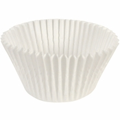 """White Fluted Baking Cups - 5.5"""" 1,500 ct."""