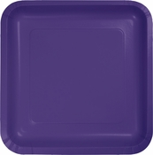 Touch of Color Purple Square Dinner Plates in quantities of 18 / pkg, 10 pkgs / case