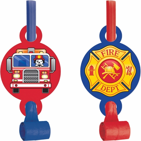 Fire Truck Party Blowers 48 ct