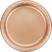 Rose Gold Foil Dinner Plates 96 ct