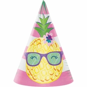 Pineapple Party Party Hats 48 ct