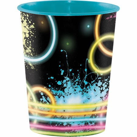 Glow Party 16 oz Favor Cups 12 ct