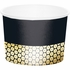 Black and Gold Sequin Treat Cups 36 ct