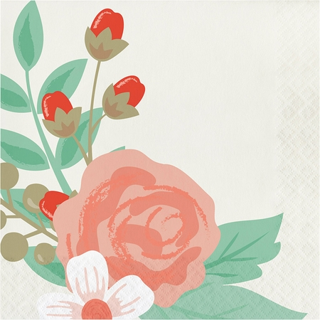Modern Floral Luncheon Napkins 192 ct