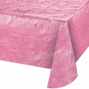 Opalescent Candy Pink Metallic Tablecloths 12 ct