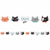 Cat Party Banners 6 ct