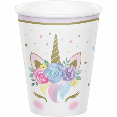 Unicorn Baby Shower 9 oz Paper Cups 96 ct