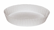 """Brooklace� dry waxed paper White Fluted 9.75"""" Round Cake Liners is sold in bulk quantities of 250 / pkg, 4 pkgs / case"""